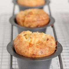 Pepperoni and cheese popovers