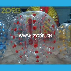 These types of balls are rounded aggregate materials like plastic and rubber quality. To ensure that the rubber does not break, these are designed using two layers where air is present in the middle and thus provides a good damping effect. See more at : http://zorb.blog.com/2014/11/10/zorbing-ball-the-best-sporting-ball-played-by-children-in-parks/