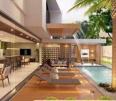 Projeto residencial by LSA Arquitetura. Projeto residencial by LSA Arquitetura.
