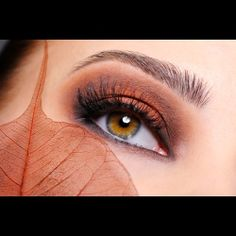 Fall Makeup cute idea to incorporate fall wedding themed colors into your makeup.  - GAJ Photographs
