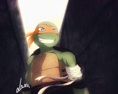 Misery is optional! by LimitLine.deviantart.com on @deviantART Ninja Turtles Art, Teenage Mutant Ninja Turtles, Tmnt Mikey, Leonardo Tmnt, Tmnt Comics, Tmnt 2012, Naruto, Baby Dragon, Fnaf