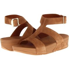 FitFlop Arena Women's Sandals, Tan featuring polyvore fashion shoes sandals tan low platform sandals tan shoes platform sandals platform shoes gladiator shoes