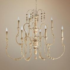 "Quorum Salento 9-Light 40 1/2"" Wide White Chandelier -"
