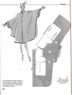 Tipo capa Vintage looking Cape. They use to make these using Felted Wool, Velvet, Satin, Crepe, have seen them made from Fleece and Stadium Blankets. Dress Sewing Patterns, Vintage Sewing Patterns, Clothing Patterns, Diy Clothing, Sewing Clothes, Look Fashion, Diy Fashion, Hijab Fashion, Cape Pattern