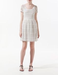 This is my actual dress - from Zara  It fits very differently on me though. because I am a small person.