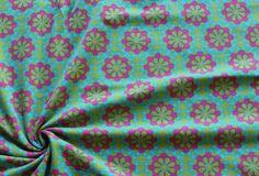 Stoffe gemustert - Jersey Ornamente grün - ein Designerstück von paulinahannah bei DaWanda Shops, Designer, Etsy, Tents, Retail