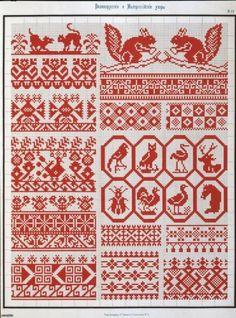 Старинные узоры вышивки крестиком. / Вышивка / Вышивка крестом