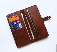 Купить Кожаный кошелек Handy - кошелек, кошелек из кожи, кошелек ручной работы, кошелек женский