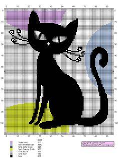 Gráficos ponto cruz  da drica: Gatinhos