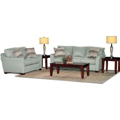 Tara Mint Upholstered 7-Piece Room Group