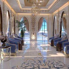 68 Ideas For Living Room Classic Luxury Design Mansion Interior, Luxury Homes Interior, Home Interior Design, Interior Architecture, Interior Decorating, Style Marocain, Moroccan Interiors, Luxury Rooms, Living Room Decor