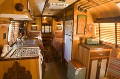 Airstream Renovations home design and interior design gallery, Airstream Custom Interiors With Ceramic Floor. Airstream Custom Interiors With Ceiling Wood. and Airstream Custom Interiors With Wall Shelves at Giesen Design Airstream Campers, Airstream Remodel, Airstream Interior, Trailer Interior, Remodeled Campers, Camper Renovation, Trailer Remodel, Camper Van, Trailer Decor