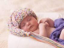 czapka krasnal kolorowy  0-2mce sesja foto