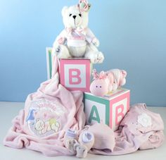 Baby Girl's Home From the Hospital Gift Set by Baby Gifts-N-Treasures   #Newborn #BabyGifts #BabyShowerGifts #BabyGiftsNTreasures