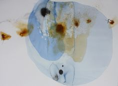 """Ana Zanic: Origin, Cluster, 22""""x30"""", watercolor and ink on paper, @ Kathryn Markel Fine Arts, NY"""