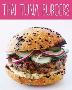 Thai Tuna Burgers with Ginger Lemon Mayo