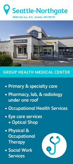 Kaiser Permanente Northgate Medical Center in Seattle WA Find directions, maps, phone numbers, hours, services including an adolescent center. Occupational Therapy, Physical Therapy, Group Health, Optical Shop, Primary Care, Radiology, Medical Center, Social Work, Pediatrics