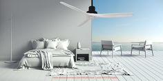 Vam Deckenventilator KAUAI matt schwarz mit 132 cm Naturholzflügeln in vielen Nuancen - incl. Temperaturautomatik - Fernbedienung