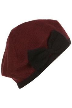 Contrast Bow Beret - StyleSays
