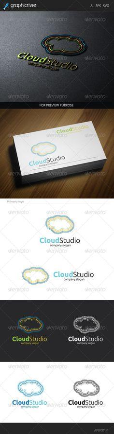 Cloud Studio Logo design for creative studio company. Featured:AI CS4 Document EPS 10 Document PDF Document CMYK100  Vector (Re-s