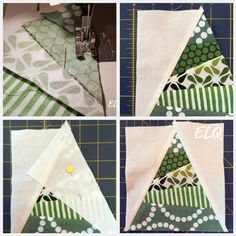 Ellison Lane Quilts: Christmas Tree Block Tutorial  This block would make a pretty pillow for the holidays.