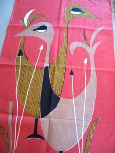 atomic ducks tea towel $38