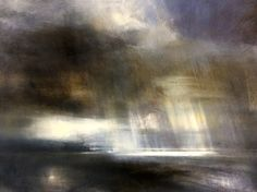 Zarina Stewart-Clark is a Scottish landscape artist whose paintings depict landscapes around the West Coast of Scotland and Suffolk. Her paintings are concerned with the changing light on land, sea and sky. Moonlight Painting, Rain Painting, Abstract Landscape Painting, Seascape Paintings, Watercolor Landscape, Landscape Art, Landscape Paintings, Sensory Art, Muse Art