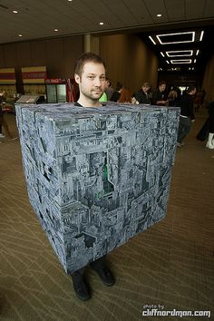 Borg Cube cosplay, photo by Cliff Nordman, via Flickr