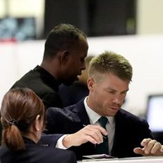 EXCLUSIVE Dapper David Warner leaves Sydney for cricket tour in South Africa