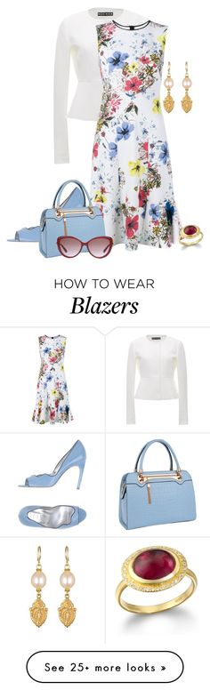 """Untitled #2124"" by anfernee-131 on Polyvore featuring Roger Vivier, Rochas…"