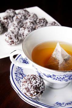 kokos chocoladepralines met thee