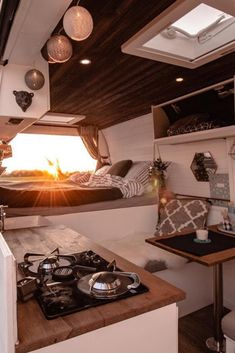 Amazing Camper Van Interior Ideas - House Topics - Camper vans are getting more and more popular. An Amazing Camper Van Interior Ideas - House Topics - Camper vans are getting more and more popular. And it's not a surprise why. Having a camper van y - Sprinter Camper, Camping Car Sprinter, Interior Motorhome, Van Interior, Interior Design, Interior Ideas, Camper Life, Vw Camper, Kombi Home