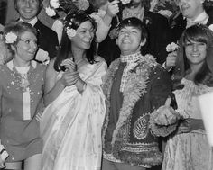 Angela King and Eric Burdon, 1967 | The lead singer of The Animals married model Angie King in a mod, flower-powered soiree. HIPPIES.