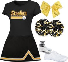 The Steelers don't have cheerleaders, but this makes a fun Halloween costume, anyway.