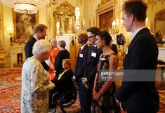 (left to right) Dame Tanni Grey-Thompson, Mo Farah, Liam Payne, Anita Rani, and Caspar Lee during the 2017 Queen's Young Leaders Awards Ceremony at Buckingham Palace on June 29, 2017 in London, England. The Queen's Young Leaders Programme was launched at the time of her Diamond Jubilee and aims to discover, celebrate and support young people across the Commonwealth. (Photo by Jonathan Brady - WPA Pool/Getty Images)