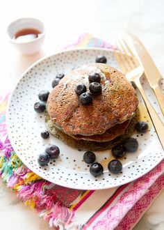 blue corn and blueberrypancakes - a house in the hills - interiors, style, food, and dogs