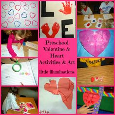 little illuminations: Preschool Valentine and Heart Activities and Art