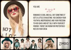 """I took Zimbio's Taylor Swift quiz and my song is """"22""""! What's yours? #ZimbioQuiz"""