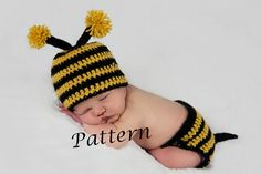 Baby Bumble Bee  Crochet set pattern