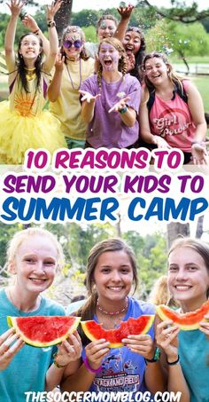 There are countless benefits of summer camp — it is truly a life changing experience for kids! If you've been thinking about sending your kids to camp this year, then read these awesome benefits from the Soccer Mom Blog! These are the best 10 reasons for kids to go to summer camp this year. Summer Camp Games, Summer Camp Crafts, Summer Camps For Kids, Summer Activities For Kids, Camping With Kids, Summer Kids, Fun Activities, Train Up A Child, Parenting Teens