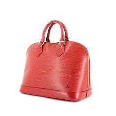 Louis Vuitton Alma en cuir épi rouge