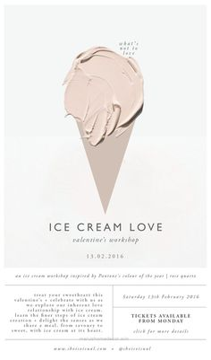 Perfect ICE CREAM LOVE WORKSHOP Digital Poster | design by SHE IS VISUAL                                                                                                       ..