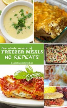 Genius! One whole month of homemade freezer meals - with no repeats!