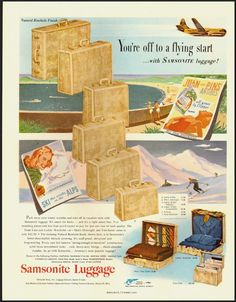 1951 Vintage ad for Samsonite Luggage  (051212)