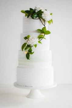 Florals like this on your cake :)
