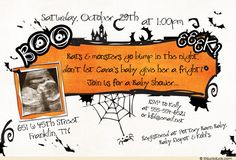 halloween baby shower invites   ... photo if you wish here frightful halloween baby shower invitation