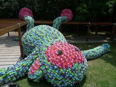 Love this sculpture made from flip flops.