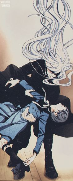 """Undertaker & Ciel manga """"BLACK BUTLER"""" color by this is the 'real' ciel But not the ciel we all know in the show Ciel Anime, Manga Anime, Anime Couples Manga, Manga Girl, Anime Girls, Black Butler Undertaker, Black Butler Ciel, Ciel Phantomhive, Shinigami"""