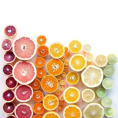rainbow, colorful citrus slices