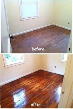 DIY hardwood floor refinish